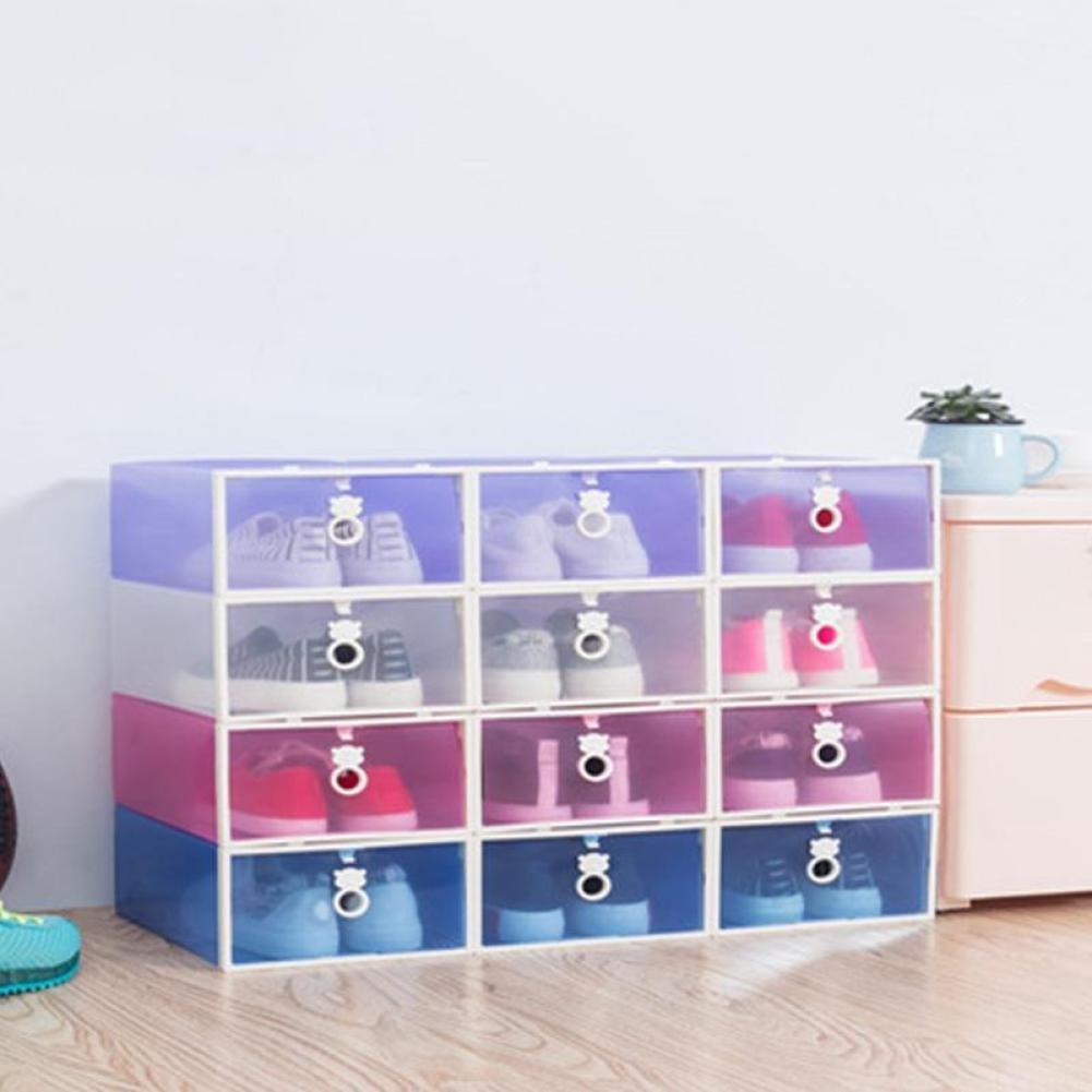Caja de almacenamiento para zapatos transparente, organizador para el hogar, de UKBIOLOGY