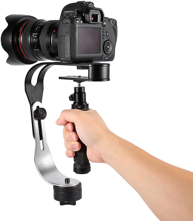Midnight Black Video Camera Stabilizer Limited Edition Smartphone with Low Profile Handle for GoPro