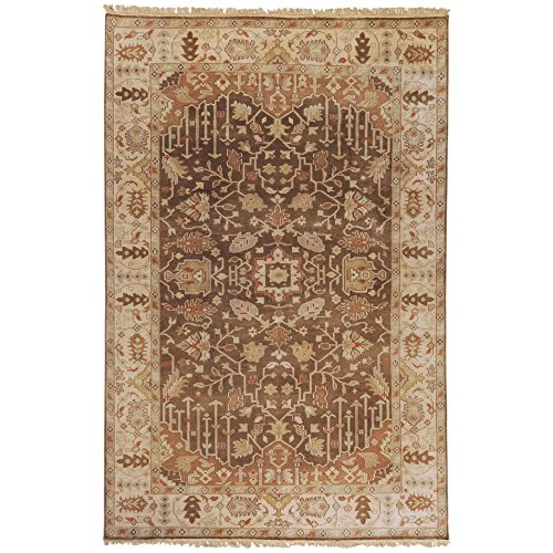 (Surya Adana IT-1015 Classic Hand Knotted 100% Semi-Worsted New Zealand Wool Brown 8' x 11' Area)