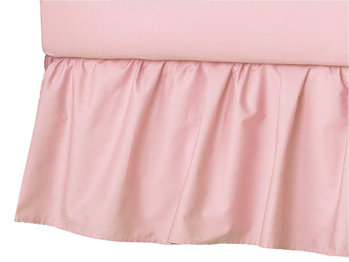 for Girls American Baby Company 100/% Natural Cotton Percale Ruffled Crib Skirt Soft Breathable Pink