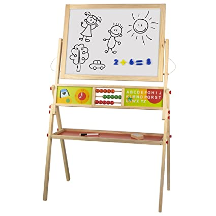 Amazon.com: COLOR BABY colorbaby Blackboard and Chalk Wood ...