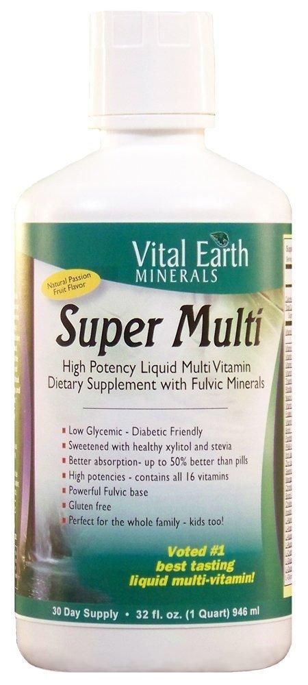 Vital Earth Minerals Super Multi Liquid Vitamins, 32 Fl Oz (Pack of 2)