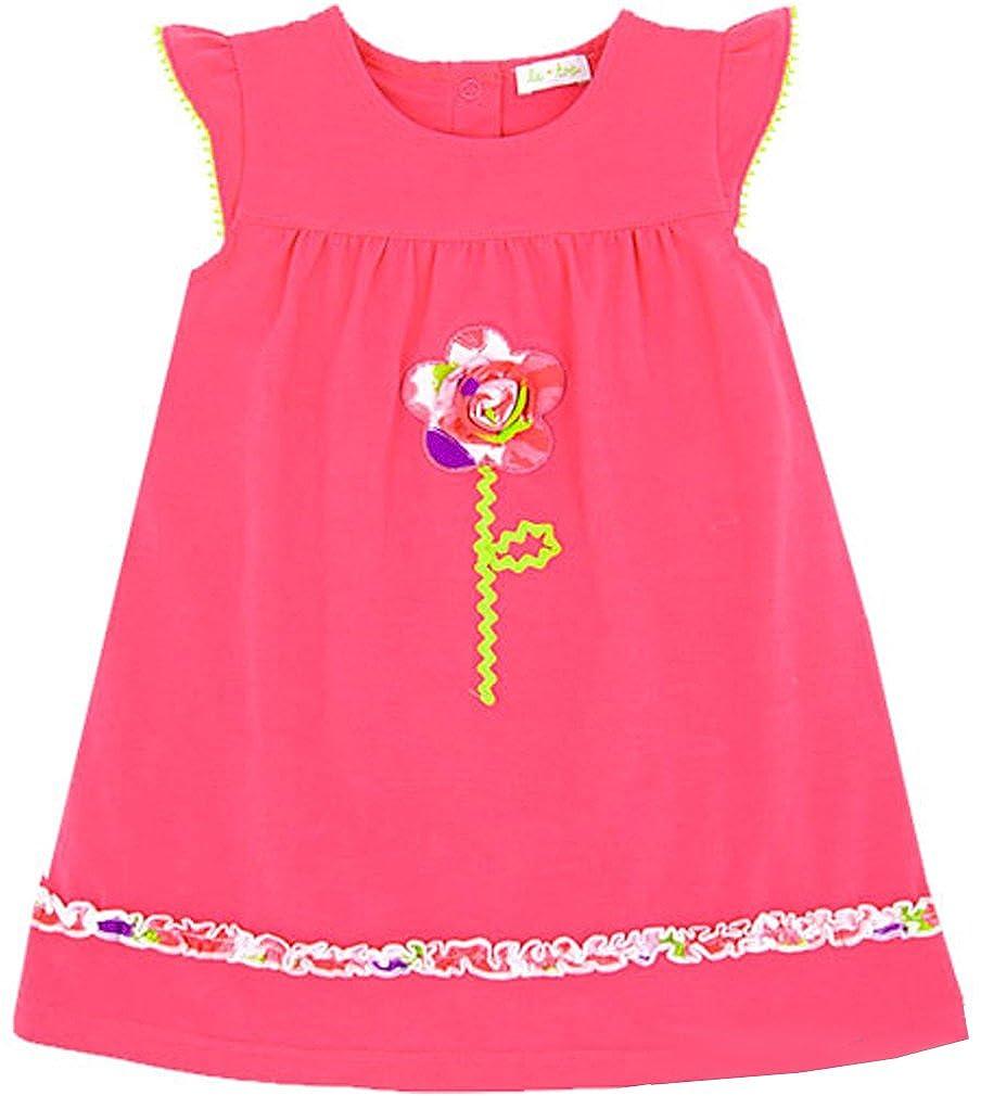 Girls le top Hearts Delight Geranium Pink Beach Dress w//3D Flower