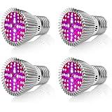 bombilla de luz de planta, Derlights 40W Equivalente E26 Bombilla de cultivo LED de espectro completo, SMD2835 Lámpara…