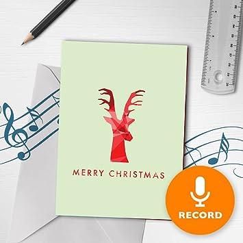 amazon com recordable christmas card minimalist christmas card
