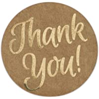 """Great Papers! Seals Thank You Self-Adhesive Stickers, 250 Count Kraft, 1.57"""" (2017012)"""