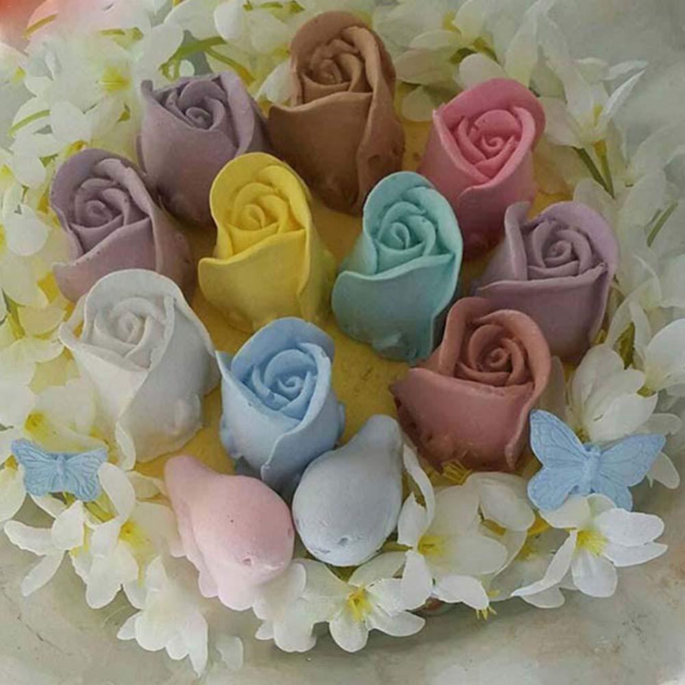 Kathariiy Molde de silicona 3D, moldes de rosas, velas hechas a ...