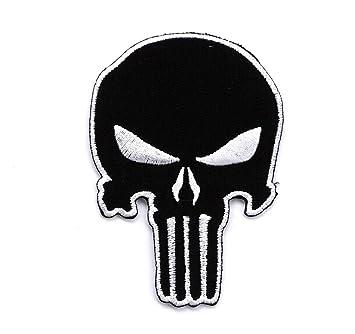 amazon com black punisher skull army swat navy seals diy jacket t