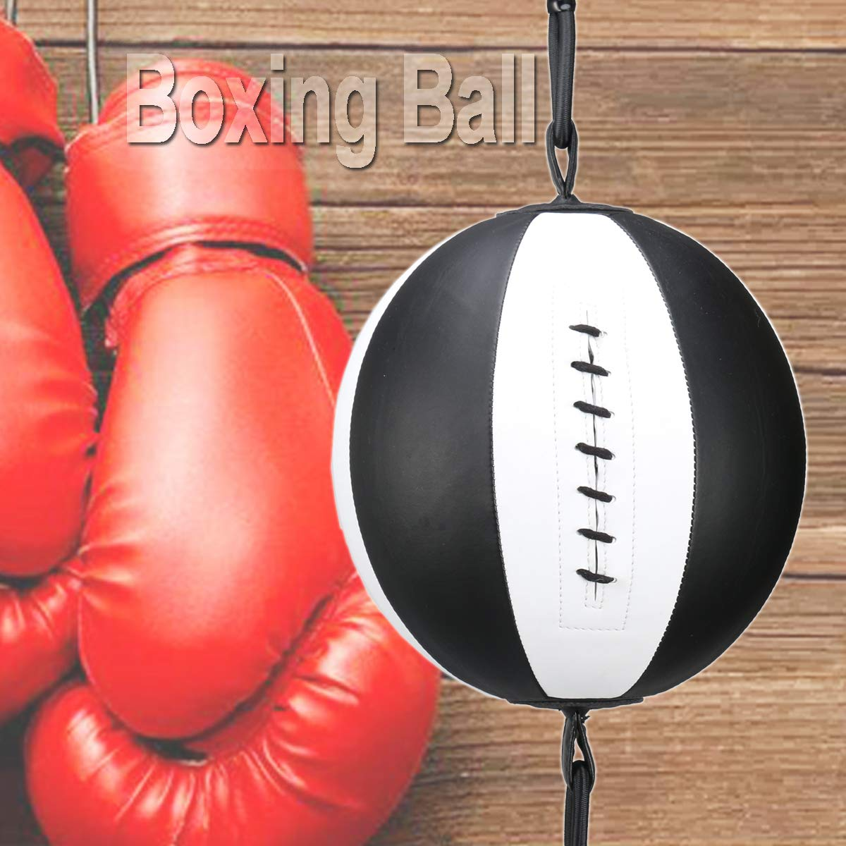 Speed Dodge Ball Double End Gym MMA Boxing Sports Punch Bag Floor to Ceiling Rope Workout Training Gym Exercise Agility Mumian PU Leather Boxing Ball