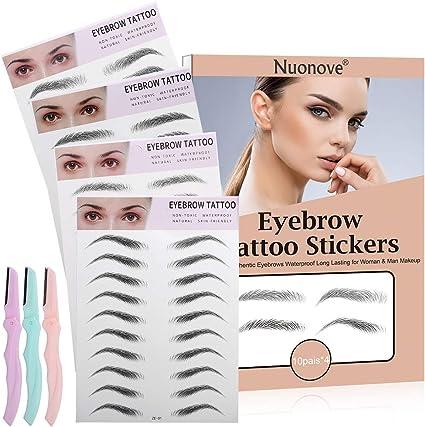 4D Hair-like Authentic Eyebrows, Eyebrow Transfers, Eyebrow Tattoo Sticker, Cejas Falsas, Bionic Eyebrow, Pegatinas de Cejas biónicas a Prueba de Agua Grooming Shaping Makeup Brow Shaper: Amazon.es: Belleza