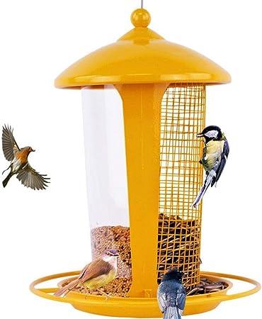 Comederos para pajaros Exterior Colgar Comedero para pájaros Dispensador de Comida para Aves Alimentador Decorativo para su jardín (Color : Yellow): Amazon.es: Hogar
