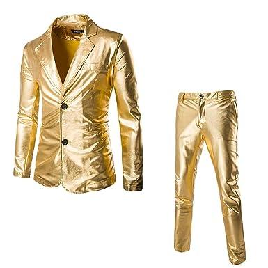 Uomo VICGREY ❤ Giacca Elegante Vestito da Uomo Slim Fit
