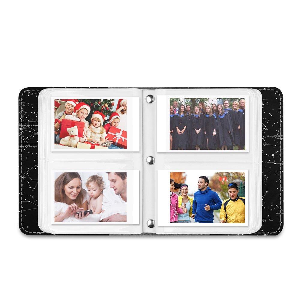 Polaroid Z2300 PIC-300P 3-inch Film Fintie Fujifilm Instax Mini Film Album Instax SP-2 SP-1 Rough Sea 104 Mini Films Photos Album pour Fujifilm Instax Mini 9//8 // 90//25 // 70