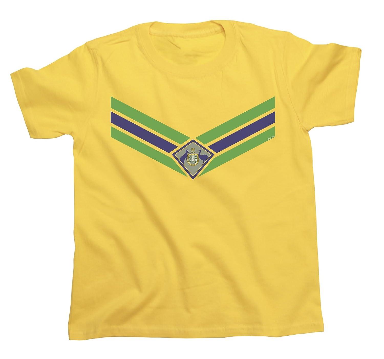 04797a944c5 Amazon.com: Kids Australia Team Emblem Boys Girls Football T-Shirt World  Cup 2018 Retro Sports: Clothing