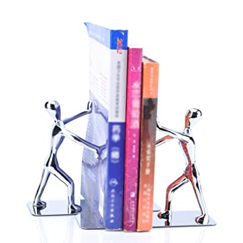QIANGDA Sujetalibros Acero Inoxidable Estante para Libros Escritorio Estantería Regalos De Maestros, 18.4 X 7 X 15cm: Amazon.es: Hogar