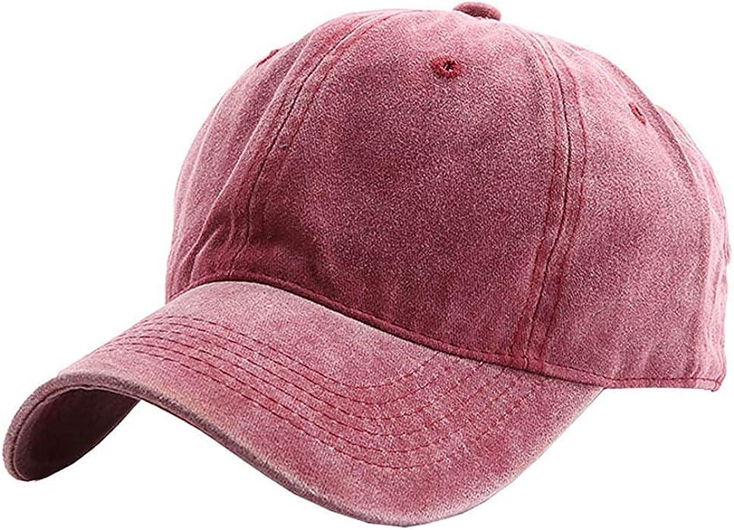 Kids Baseball-hat Washed Solid Sun Hat for Children
