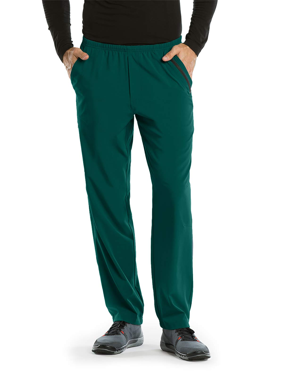 Barco One 0217 Men's 7 Pocket Athletic Jog Scrub Pant Hunter Green XS by Barco