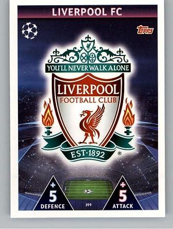 2018-19 Topps UEFA Champions League Match Attax #199 Club Badge Liverpool FC Official Futbol Soccer Card