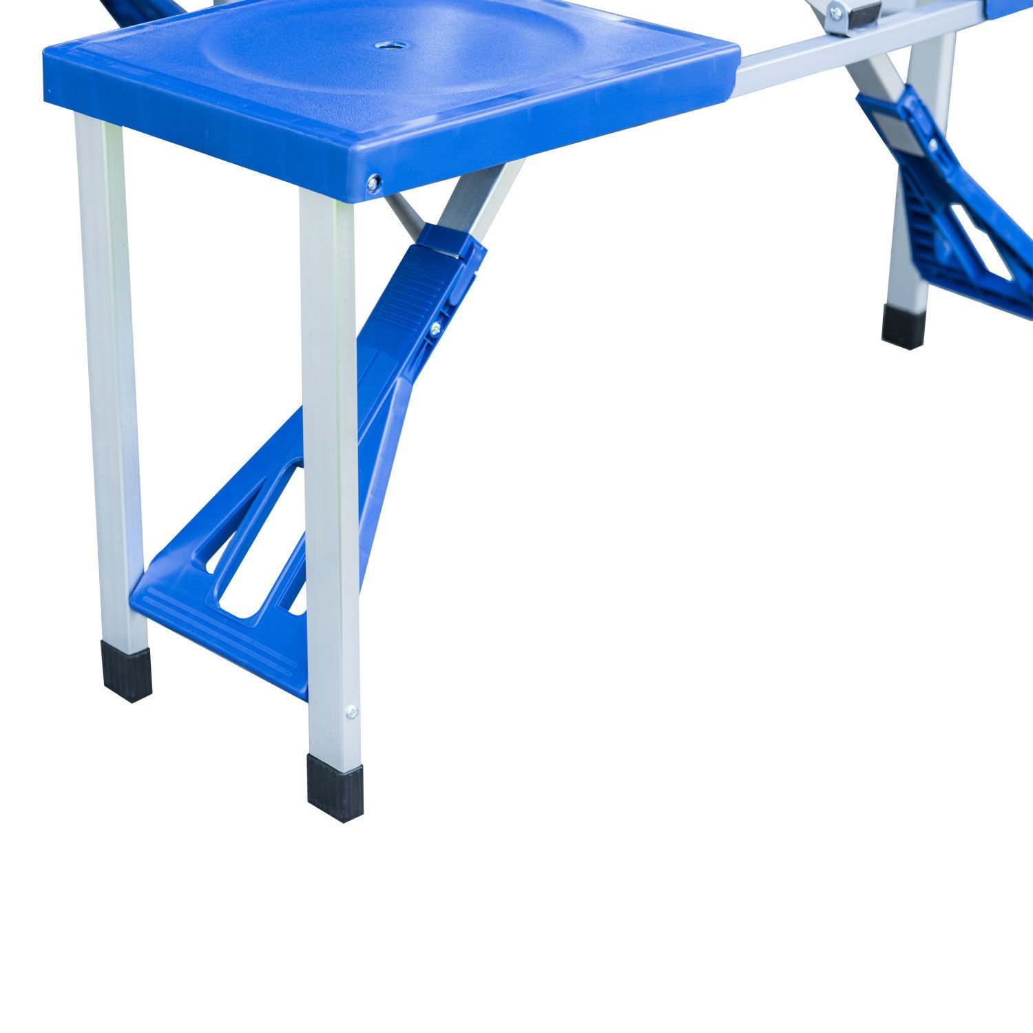 Ar Portable Folding Plastic Camping Picnic Table 4 Seats Outdoor Garden W/Case Blue by Ar (Image #7)