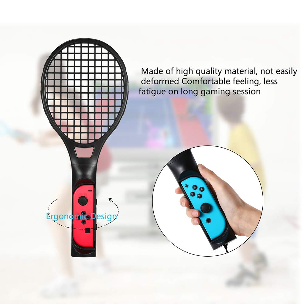 Switch Tennis Racket for Mario Tennis Aces, Twin Pack Nintendo Switch Joy-Con Controller for Tennis World Tour Game Accessories, Realistic Experience ...