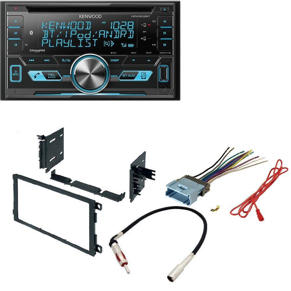 Kenwood Dpx503bt Dual Din Usb Aac Wma Mp3 Cd Receiver 2002 Avalanche Radio Wire Harness With External Media Control Dash Install Mounting Trim Panel Kit Antenna Cell