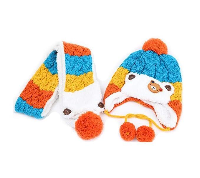 cosanter gorro bufanda de punto para bebé invierno gorra de lana de ...