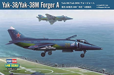 Hobby Boss Yak-38/Yak-38M Forger A Airplane Model Building Kit