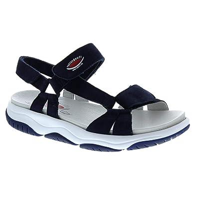 Gabor Rollingsoft Sandaletten in Übergrößen Blau 26.928.36 große Damenschuhe
