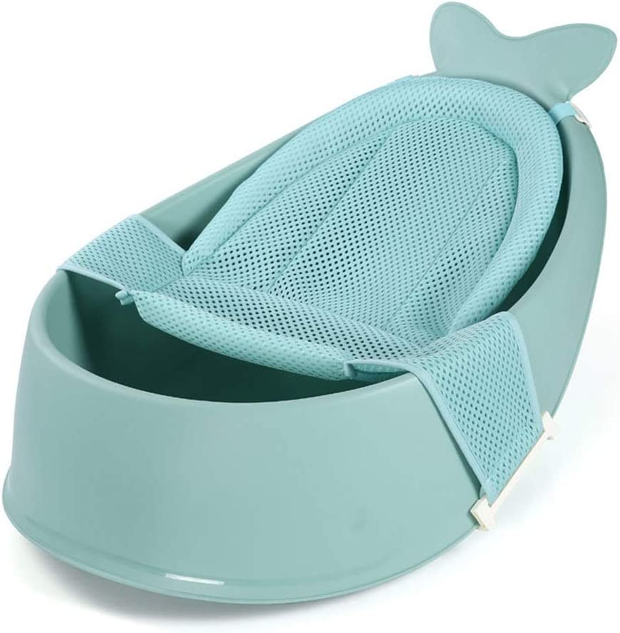 ベビーバス ベビーシャワーネット新生児SITバス大型供給が座ることができる浴槽や嘘 コンパクトなベビーバス (色 : 緑, サイズ : Free size)