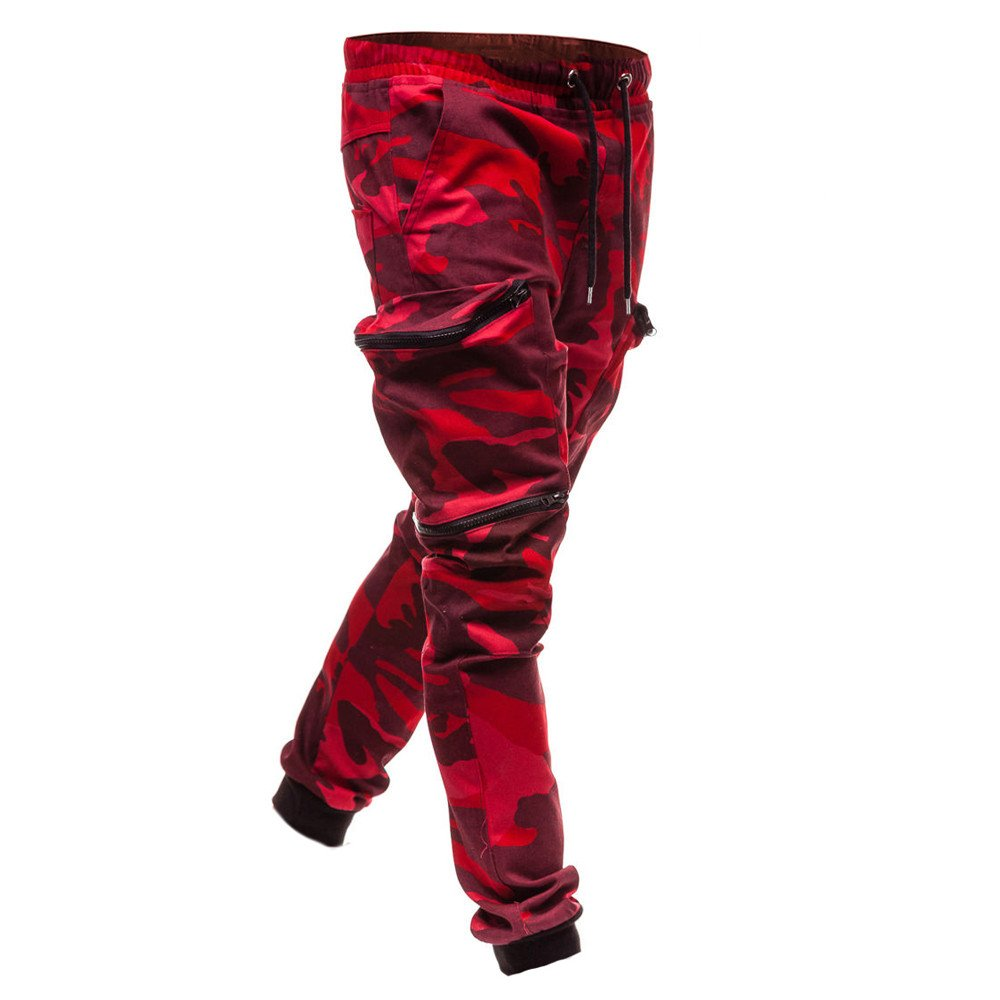 Mens Mitiy Casual Fitted Cotton Camo Twill Pockets Jogging Trouser Chino Jogger Pants