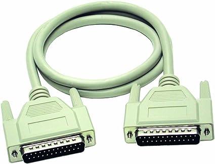 C2G 2m DB25 M/M Cable - Cable de impresora (2 m, Macho/Macho ...