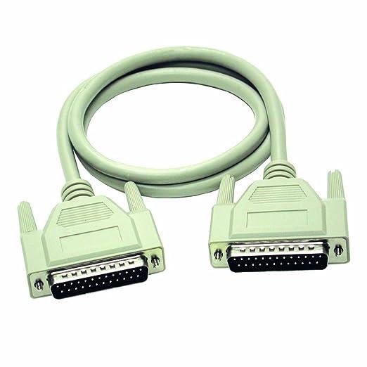 C2G 2m DB25 M/M Cable - Cable de impresora (2 m, Macho/Macho, Beige, 247 g)
