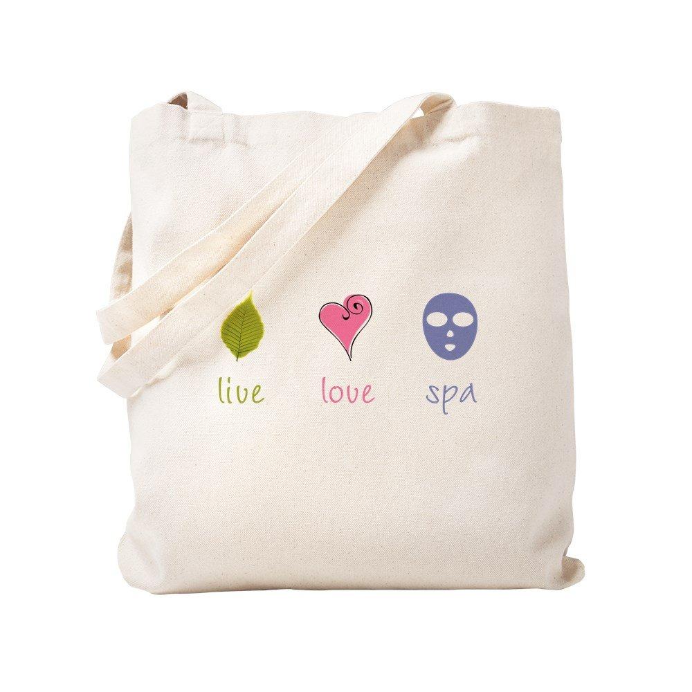 CafePress - Live Love Spa - Natural Canvas Tote Bag, Cloth Shopping Bag