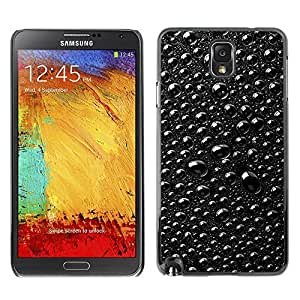 GagaDesign Phone Accessories: Hard Case Cover for Samsung Galaxy Note 3 - Rain Raindrops Black & White Macro