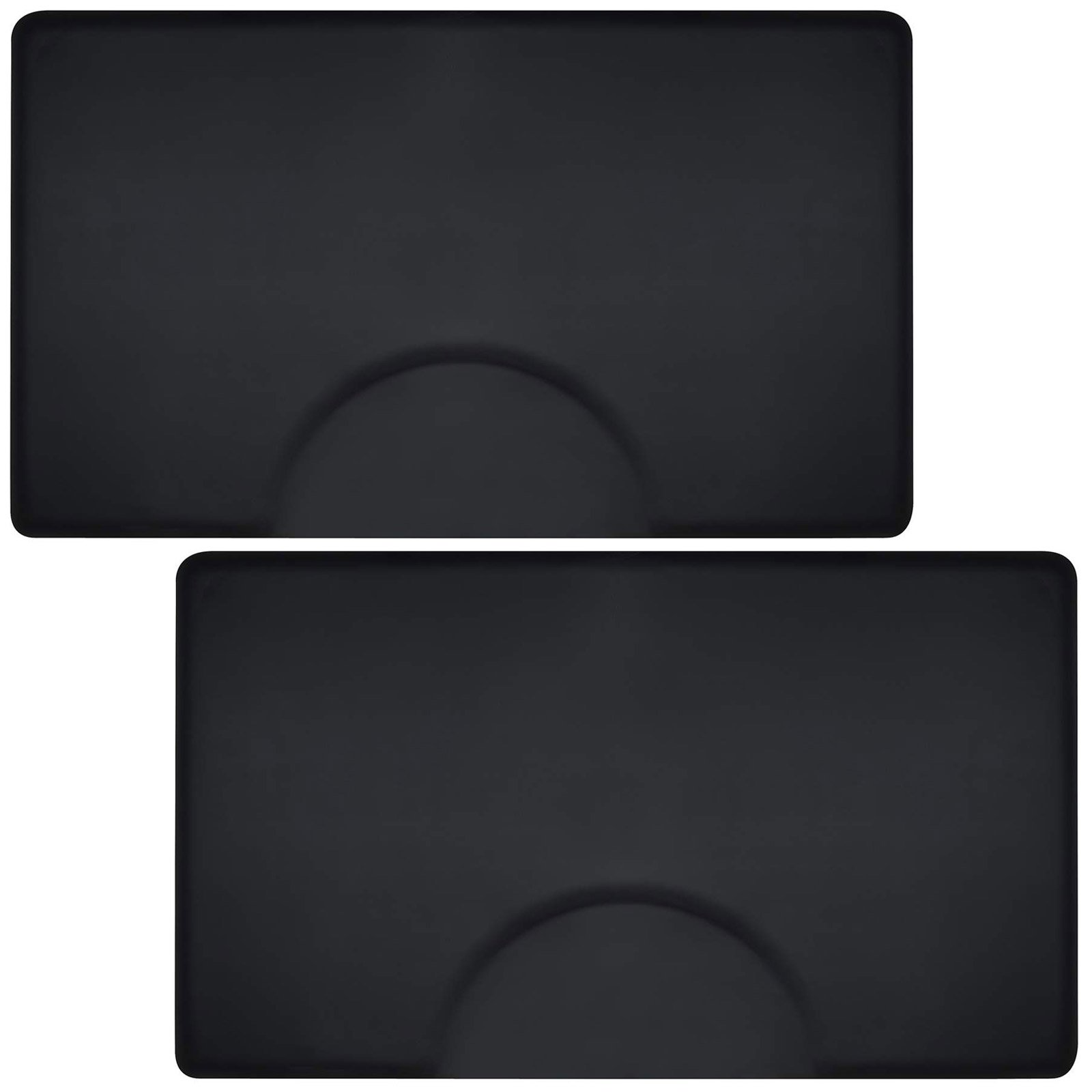 Saloniture 3 ft. x 5 ft. Salon & Barber Shop Chair Anti-Fatigue Floor Mat - Black Rectangle - 1/2 in. Thick - 2 Pack by Saloniture
