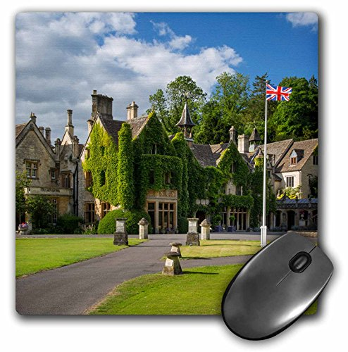"Price comparison product image 3dRose Manor House Hotel, Castle Combe, Cotswolds, Wiltshire, England Mouse Pad, 8"" x 8"" (mp_209287_1)"