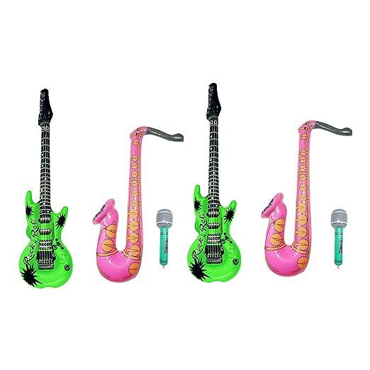 Healifty - Lote de 3 globos hinchables para guitarra y ...