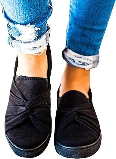 Umeko Womens Slip on Shoes Top Knot