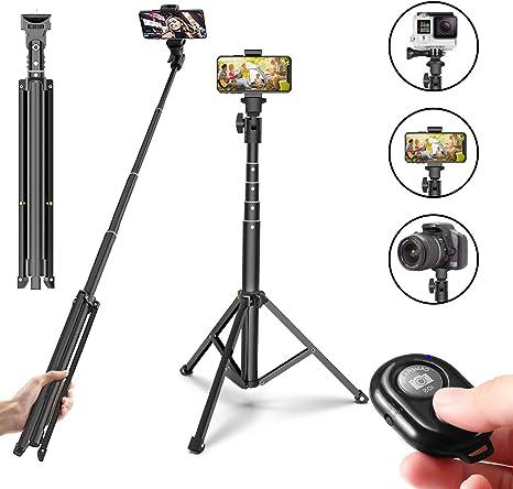 Monopod - Trípode para cámara de Fotos (54 Pulgadas, con Mando a ...