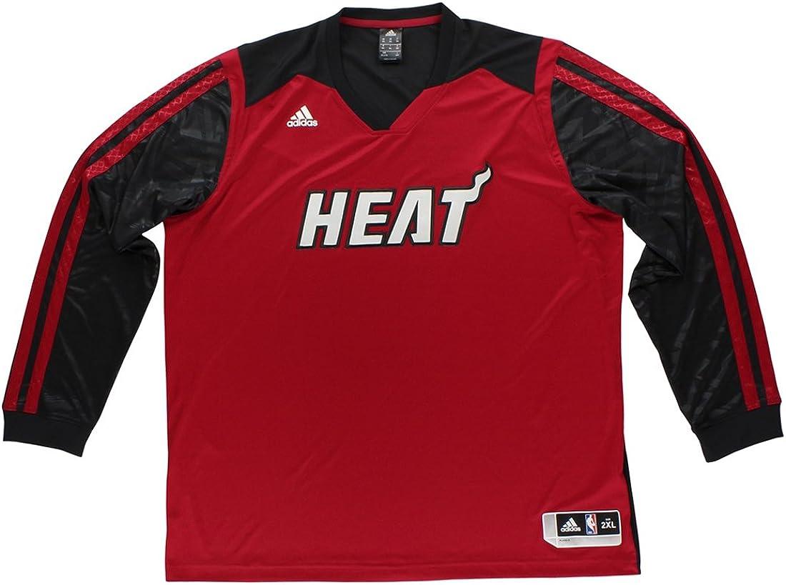 adidas Mens Miami Heat On Court Jacket Black