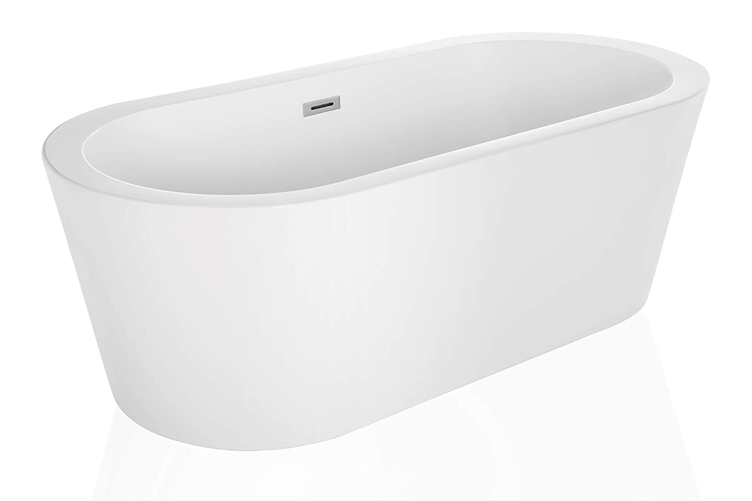 Bon Tubs Pro Made In USA Modern Relaxing Freestanding Bathtubs Stand Alone  Acrylic SPA Hot Tubs TP 559 59 Inch White     Amazon.com