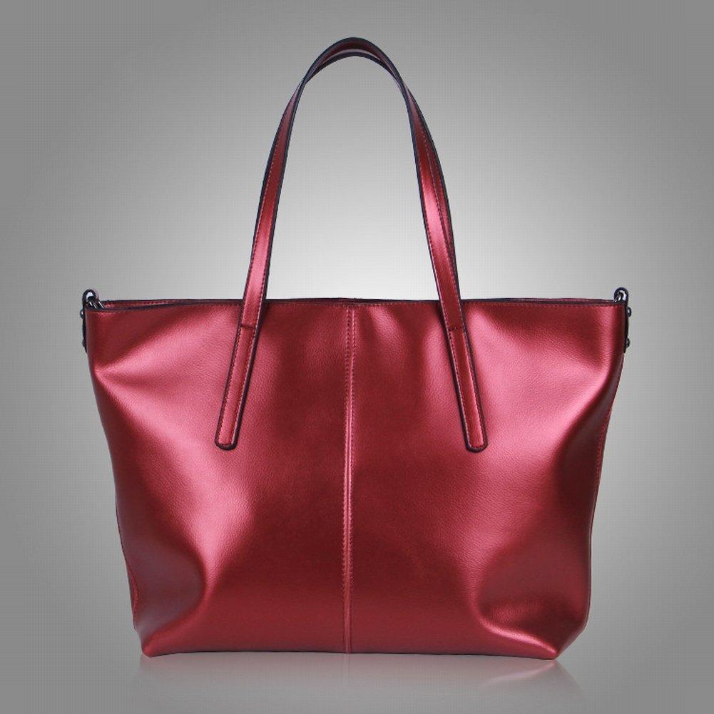 Wasser Weiches Leder Schulterdiagonale Handtasche , Weinrot
