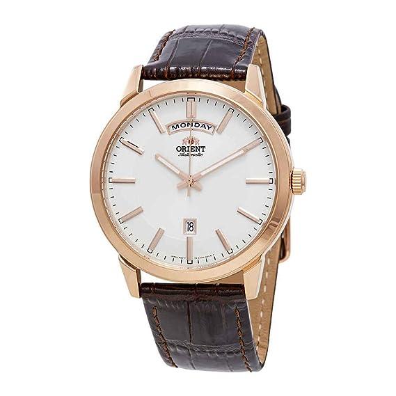 Orient Reloj Analógico para Hombre de Automático con Correa en Cuero FEV0U002WH