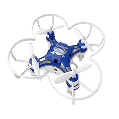 SBEGO 124 Mini RC Quadcopter Drone de poche 2.4GHZ 6 axes à distance avec 3D Flip Mode sans tête Une touche Retour Fonction Hélicoptère Enfants Jouets pour débutants (Bleu)