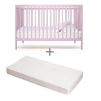 bd9429db5e840f Babybett-kinderbett- Kombi-Kinderbett -moKee-ivory plum -mit Matratze -