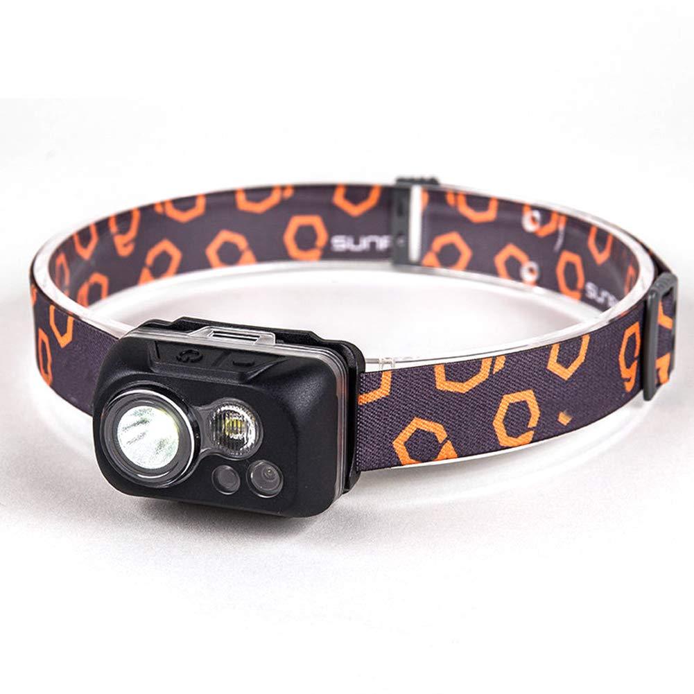 YXZN LED Scheinwerfer Geste Sensation Einstellbare Band Outdoor Beleuchtung Kopf Taschenlampe