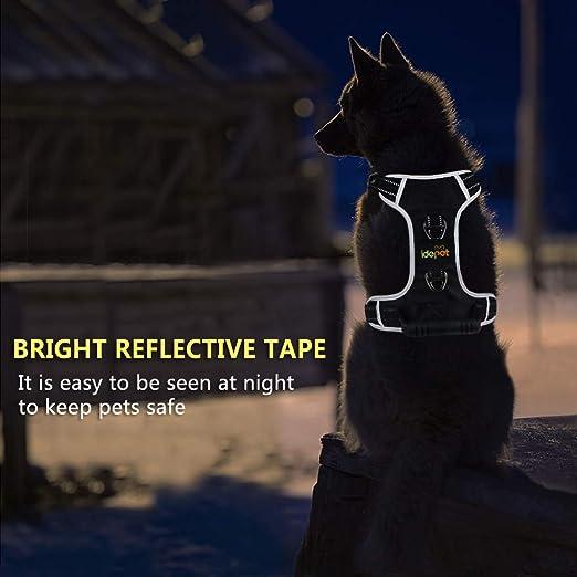 einfache Kontrolle verstellbar Metallschnalle einfaches Gehen Hundegeschirr kein Ziehen mit weichem Griff mittelgro/ße und gro/ße Hunde Idepet Hundegeschirre f/ür kleine reflektierend