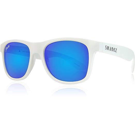 Shadez Shz 209 Lunettes de Soleil Polarisées Mixte Adulte, White-Blue