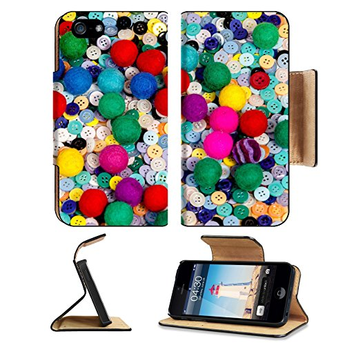 Msd Premium Apple Iphone 5 Iphone 5S Flip Pu Leather Wallet Case Iphone5 Image Id 29866464 Colorful Sewing Textile Buttons And Made Of Felt Ball Background