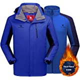 CAMEL CROWN Men's Ski Jacket 3 in 1 Waterproof Winter Jacket Snow Jacket Windproof Hooded with Inner Warm Fleece Coat